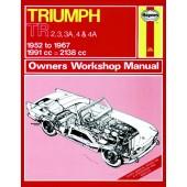 Haynes Triumph TR2, TR3, TR3A, TR4 & TR4A (52 - 67) up to F *
