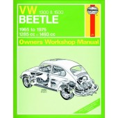 Haynes manual: Volkswagen Beetle 1300 and 1500 (65-75) up to P