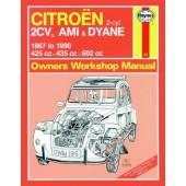 Haynes manual: Citroen 2CV, Ami and Dyane (67-90) up to H CitroГ™n
