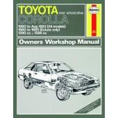 Haynes manual: Toyota Corolla (80-85) up to C