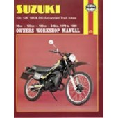 Haynes manual: Suzuki 100, 125, 185 & 250 Air-cooled Trail bikes (79-89)