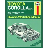 Haynes manual: Toyota Corolla (Sept 83-Sept 87) A to E