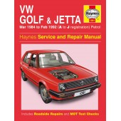 Haynes VW Golf & Jetta Mk 2 Petrol (Mar 84 - Feb 92) A to J