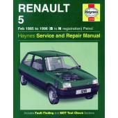Haynes Renault 5 Petrol (Feb 85 - 96) B to N