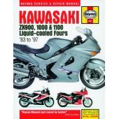 Haynes manual: Kawasaki ZX900, 1000 and 1100 Liquid-cooled Fours (83-97)