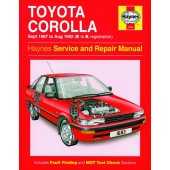Haynes manual: Toyota Corolla (Sept 87-Aug 92) E to K
