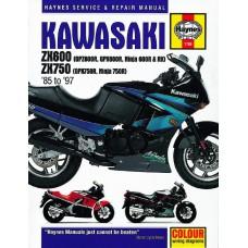 Haynes manual: Kawasaki ZX600 (GPZ600R, GPX600R, Ninja 600R and RX) and ZX750 (GPX750R, Ninja 750R) Fours (85-97)