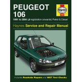 Haynes manual: Peugeot 106 Petrol & Diesel (91-04) J to 53