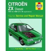 Haynes manual: Citroen ZX Diesel (91-98) J to S