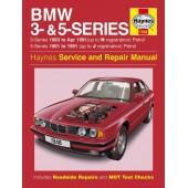Haynes manual: BMW 3- and 5-Series Petrol (81-91) up to J