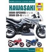 Haynes manual: Kawasaki EX500 (GPZ500S) & ER500 (ER-5) (87-08)