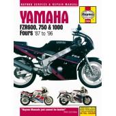 Haynes manual: Yamaha FZR600, 750 and 1000 Fours (87-96)