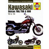 Haynes manual: Kawasaki Vulcan 700/750 and 800 (85-04)