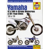 Haynes manual: Yamaha YZ & WR 4-stroke Motocross Bikes (98-07)