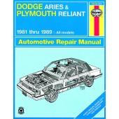Haynes Dodge Aries & Plymouth Reliant (81 - 89)