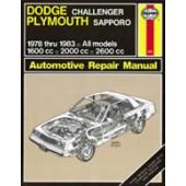Haynes Dodge Challenger & Plymouth Sapporo (78 - 83)