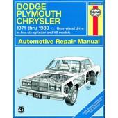 Haynes Dodge/Plymouth/Chrysler Rear-wheel drive (71 - 89)