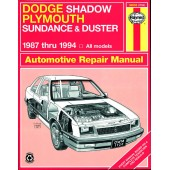Haynes Dodge Shadow & Plymouth Sundance and Duster (87 - 94)