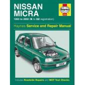 Haynes manual: Nissan Micra (93-02) Petrol K to 52