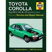 Haynes manual: Toyota Corolla Petrol (Aug 92-97) K to P