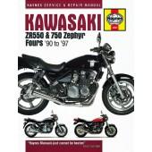 Haynes manual: Kawasaki ZR550 and 750 Zephyr Fours (90-97)