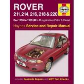 Haynes manual: Rover 211, 214, 216, 218 & 220 Petrol & Diesel (Dec 95-99) N to V