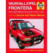 Haynes manual: Vauxhall/Opel Frontera Petrol and Diesel (91-Sept 98) J to S