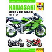 Haynes manual: Kawasaki ZX-6R Ninja Fours (95-02)