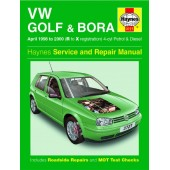 Haynes manual: Volkswagen Golf and Bora Petrol and Diesel (April 98-00) R to X