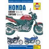 Haynes manual: Honda CB500 (93 to 02) & CBF500 (03 to 08)
