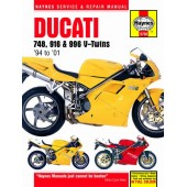 Haynes manual: Ducati 748, 916 and 996 4-valve V-Twins (94-01)