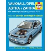 Haynes manual: Vauxhall/Opel Astra & Zafira Petrol (Feb 98-Apr 04) R-04 reg
