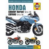 Haynes manual: Honda CB600F Hornet & CBF600 (98-06)