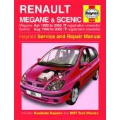Haynes manual: Renault Megane and Scenic Petrol and Diesel (99-02) T-52 reg.