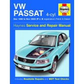 Haynes manual: Volkswagen Passat 4-cyl Petrol and Diesel (Dec 96-Nov 00) P to X