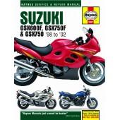 Haynes manual: Suzuki GSX600/750F and GSX750 (98-02)