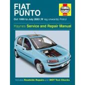 Haynes manual: Fiat Punto Petrol (Oct 99-July 03) V-03 reg.