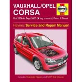 Haynes manual: Vauxhall/Opel Corsa Petrol & Diesel (Oct 00-Sept 03) X-53 reg