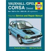Haynes manual: Vauxhall/Opel Corsa Diesel (Mar 93-Oct 00) K to X
