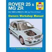 Haynes Rover 25 & MG ZR Petrol & Diesel (Oct 99 - 06) V to 06