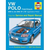 Haynes manual: Volkswagen Polo Hatchback Petrol (00-Jan 02) V to 51