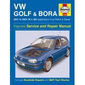 Haynes VW Golf & Bora 4-cyl Petrol & Diesel (01 - 03) X to 53