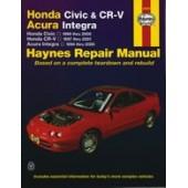 Haynes manual: Honda Civic and CR-V Acura Integra (96-01)