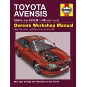 Haynes manual: Toyota Avensis 1998 to Jan 2003 (R to 52 reg) Petrol