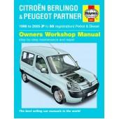 Haynes manual: Citroen Berlingo & Peugeot Partner Petrol & Diesel 96 to 05