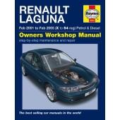 Haynes manual: Renault Laguna Petrol & Diesel (Feb 01-Feb 05) X to 54