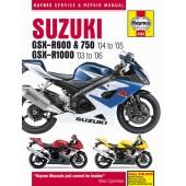 Haynes manual: Suzuki GSX-R600/750 (04-05) & GSX-R1000 (03-06)