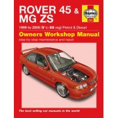 Haynes manual: Rover 45 & MG ZS 1999 to 2005 (V to 55 reg) Petrol & Diesel