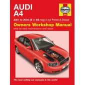 Haynes manual: Audi A4 2001 to 2004 (X to 54 reg) 4-cyl Petrol & Diesel