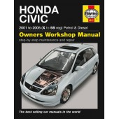 Haynes manual: Honda Civic Petrol & Diesel (01-05) X to 55